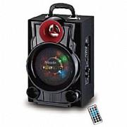 """בידורית TYRON לחובבי הקריוקי ,כולל סוללה נטענת, מיקרופון אלחוטי, נגן בלוטוס ותצוגת מצבים.תאורת LED מחיר -399 ש""""ח"""